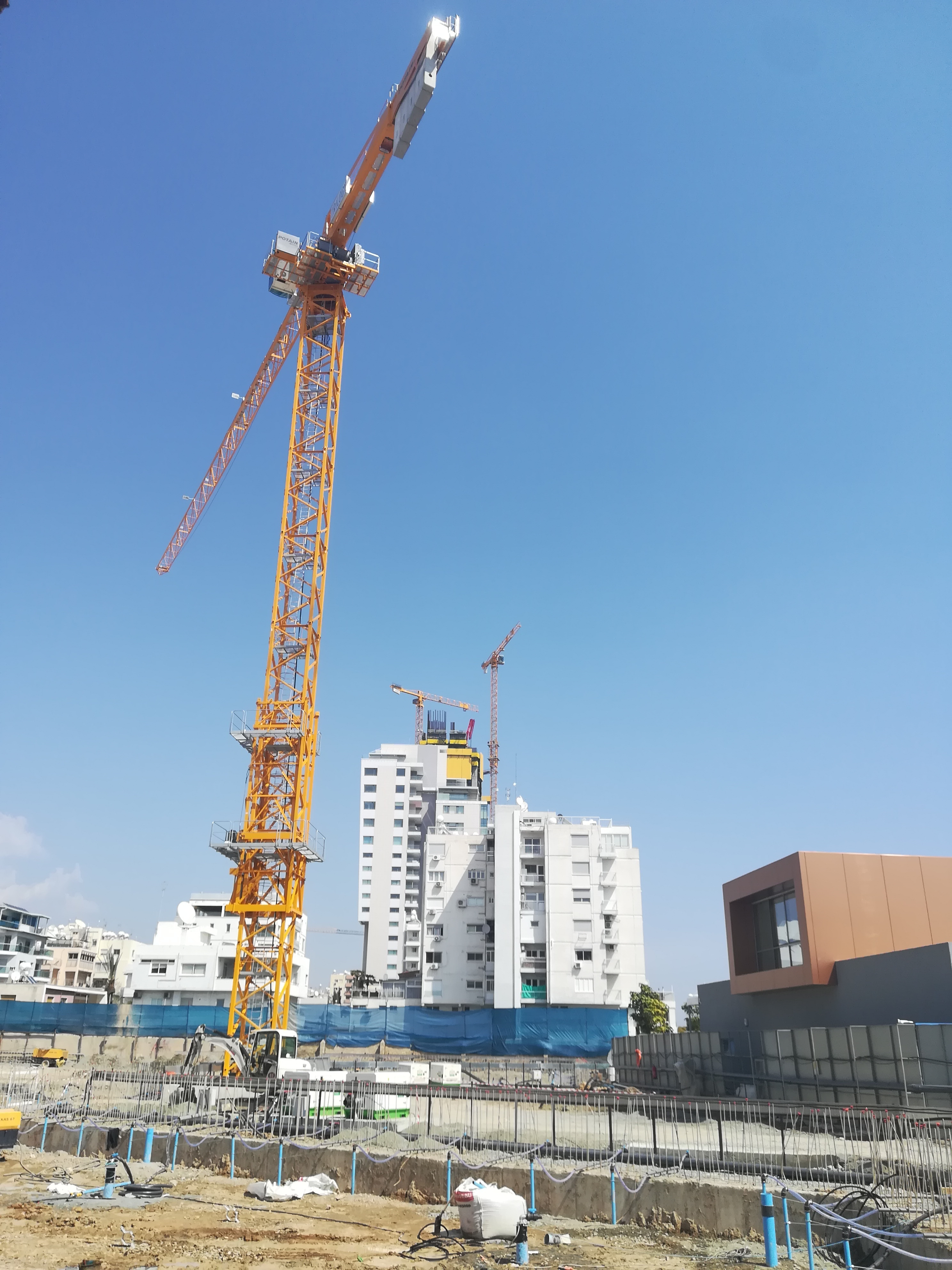 Trio of Potain tower cranes supports Trilogy Limassol
